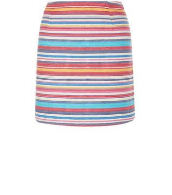 Gonna  donna Multicoloured Jacquard Stripe Mini Skirt