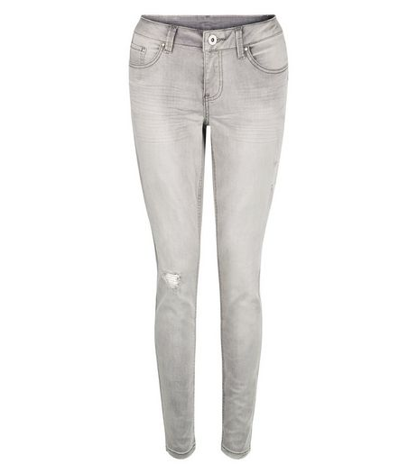Anita and Green Grey Ripped Knee Skinny Jeans  | New Look