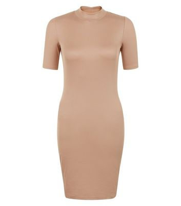 Petite Stone Funnel Neck Bodycon Dress