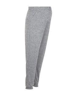 Maternity Grey Fine Knit Joggers | New Look