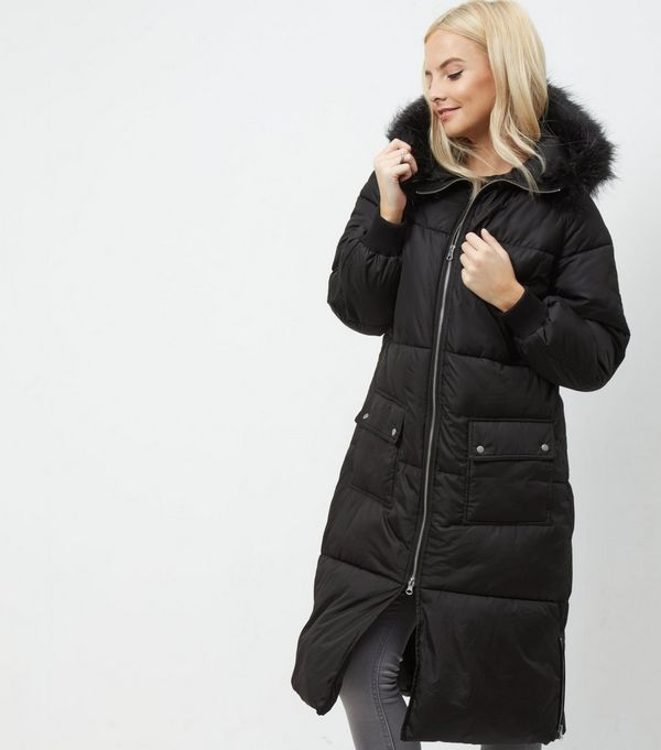Black Petite Coat | Down Coat