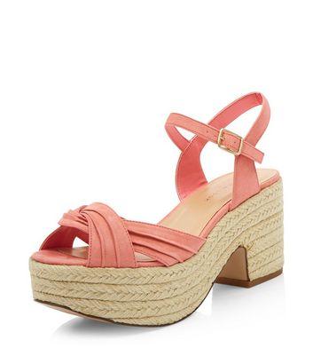 Sandalo  donna Wide Fit Coral Twist Strap Espadrille Sandals