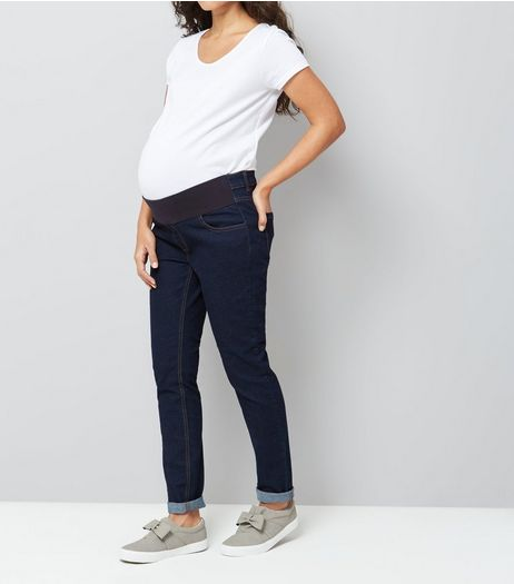 Maternity Blue Under Bump Skinny Jeans | New Look