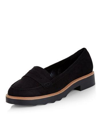 Mocassini  donna Black Contrast Trim Loafers