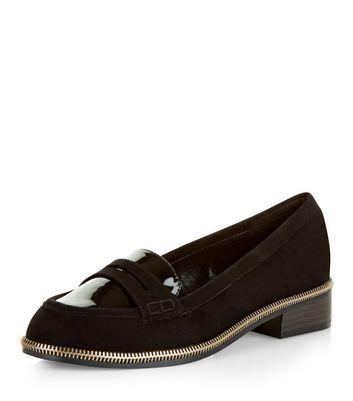 Mocassini  donna Black Zip Trim Loafers
