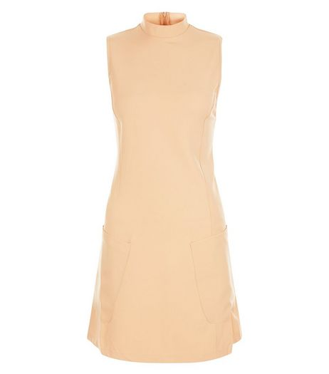 AX Paris Orange Funnel Neck Shift Dress | New Look