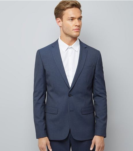 Blue Skinny Suit Jacket | New Look