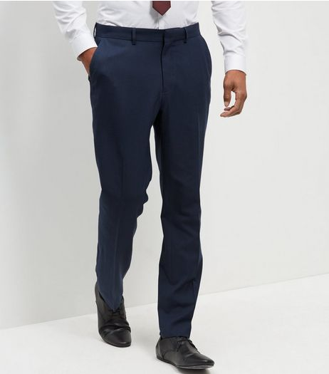 Blue Regular Suit Trousers | New Look