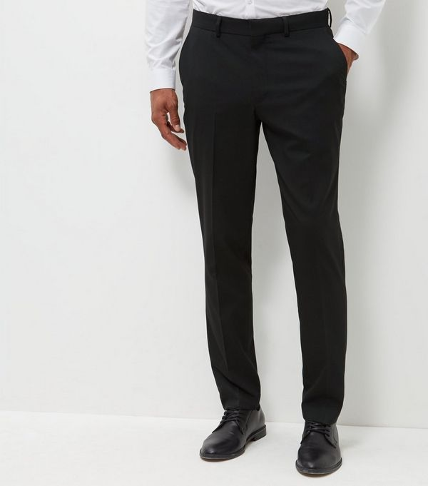 Black Slim Fit Suit Trousers