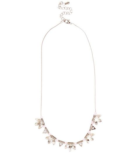 Silver Flower Necklace | New Look