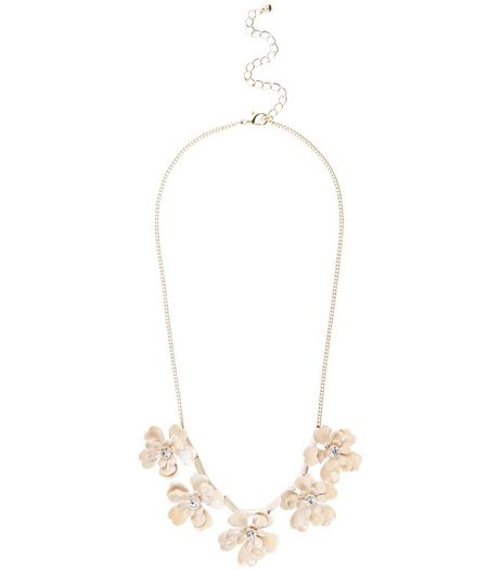 Pink Flower Necklace  | New Look