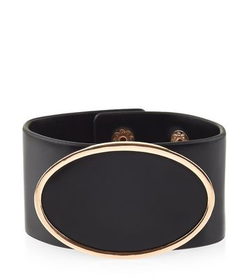 black-leather-oval-cuff