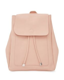 Pink Leather-Look Backpack | New Look