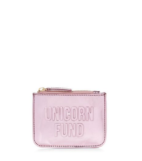 Pink Unicorn Fund Zip Top Coin Purse  | New Look