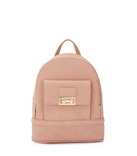Cream Twist Lock Mini Backpack | New Look