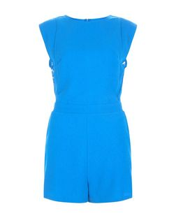 Apricot Blue Lace Panel Playsuit | New Look