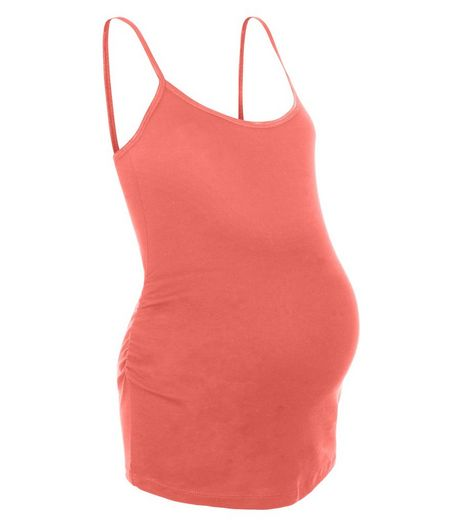 Maternity Coral Strappy Vest | New Look
