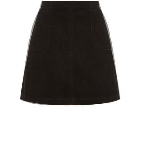 Teens Dark Green Cord A-Line Skirt  | New Look