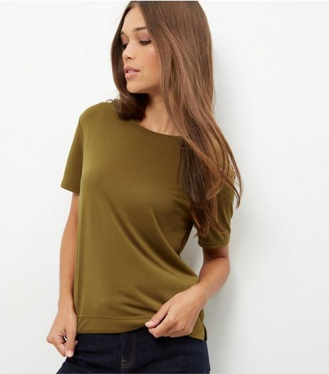 Khaki T-Shirt  | New Look