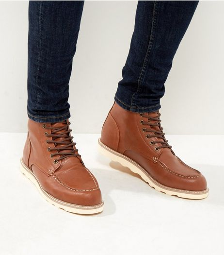 Brown Lace Up Ankle Boots | New Look