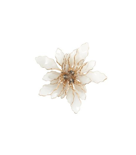 Brown Layered Flower Brooch | New Look