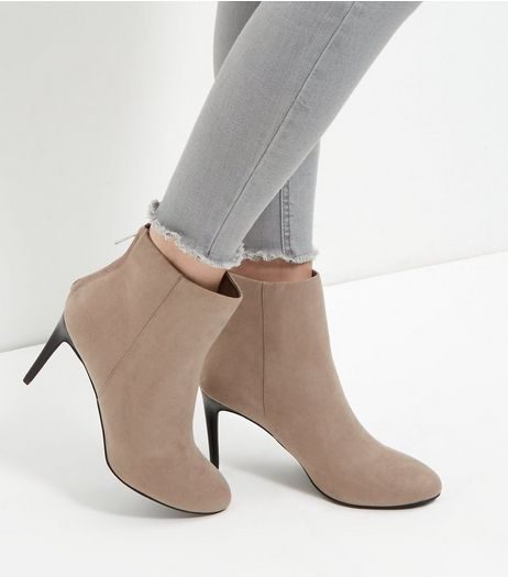 Stone High Ankle Boots | New Look