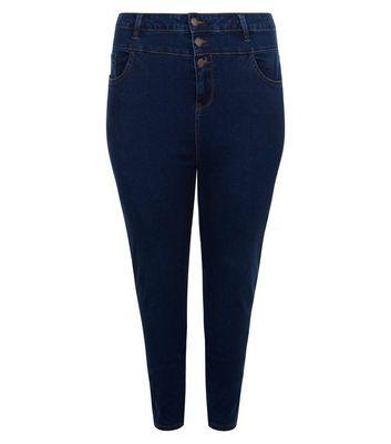 Curves Navy High Waist Skinny Jeans