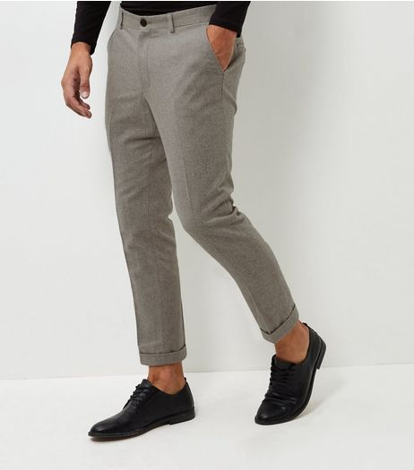 Stone Slim Warm Handle Trousers | New Look
