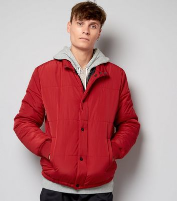 Product photo of Red quilted jacket
