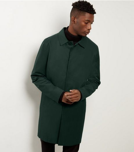 Dark Green Single Breasted Trench Coat  | New Look