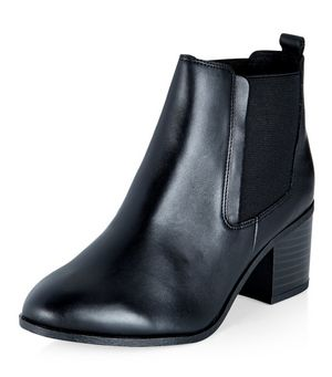 wide fit black leather chelsea boots