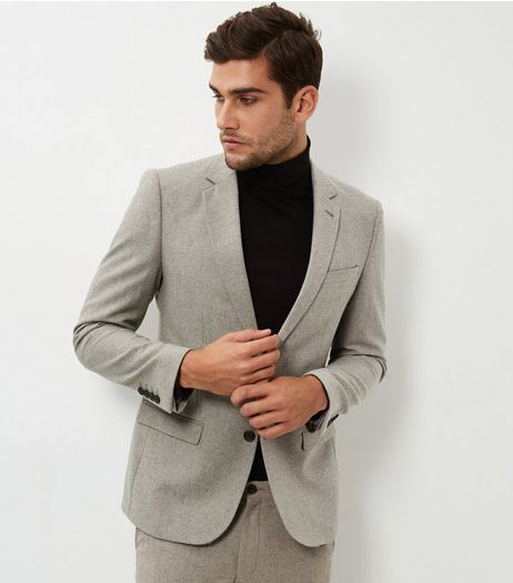 Stone Slim Fit Blazer | New Look