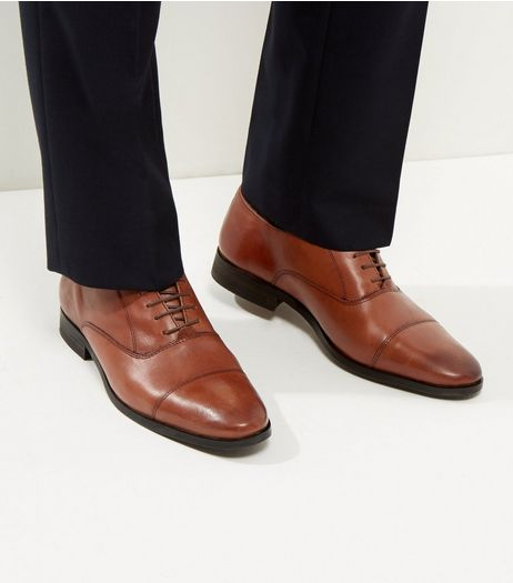 Brown Leather Lace Up Brogues  | New Look
