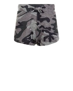 Teens Khaki Camo Print Shorts | New Look