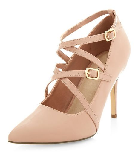 Cream Comfort Patent Strappy Heels | New Look