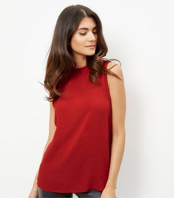 red-funnel-neck-longline-sleeveless-top