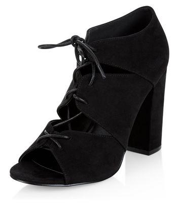 Sandalo  donna Black Suede Cut Out Ghillie Heels