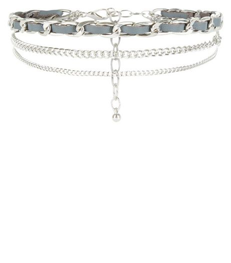 Silver Chunky Chain Layered Choker | New Look