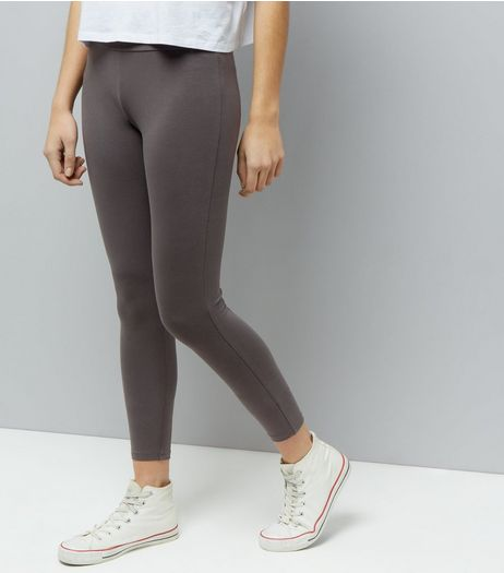 Grey High Waist Leggings | New Look
