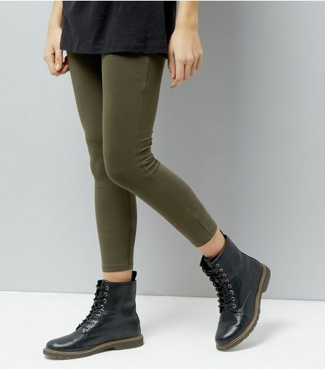 Khaki High Waist Leggings  | New Look