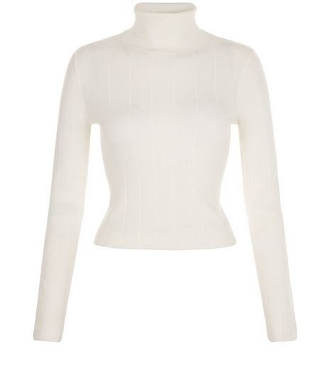Teens Cream Turtle Neck Jumper | New Look