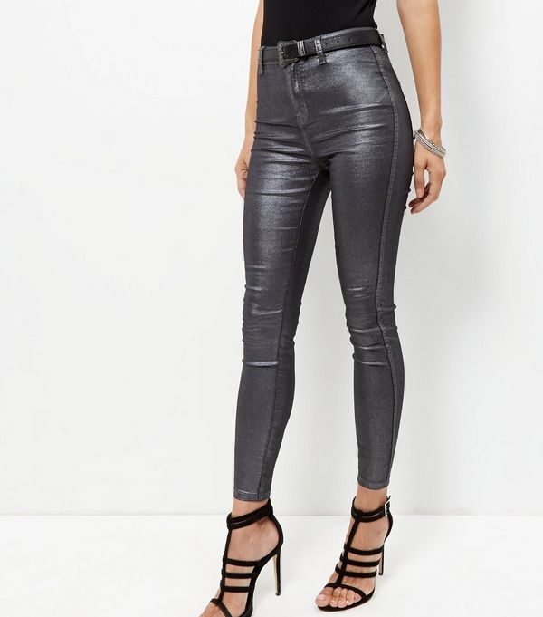Black Coated Supersoft Skinny Jeans