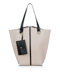 Cream Contrast Trim Tote Bag | New Look