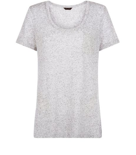 Grey Single Pocket Slub T-Shirt  | New Look