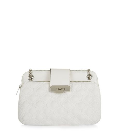 White Quilted Shoulder Bag | New Look