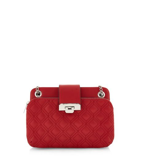 Red Quilted Shoulder Bag | New Look