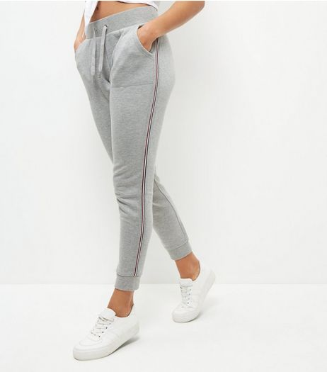 Grey Tape Trim Joggers  | New Look
