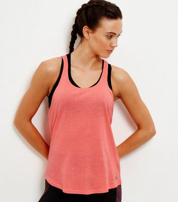 Coral Knotted Back Sports Vest