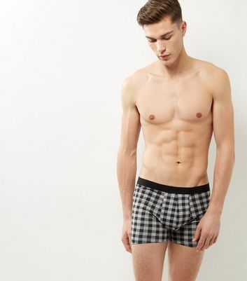 3 Pack Grey Check Boxer Briefs