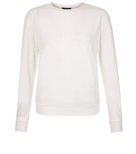 Teens White Velvet Sweater  | New Look